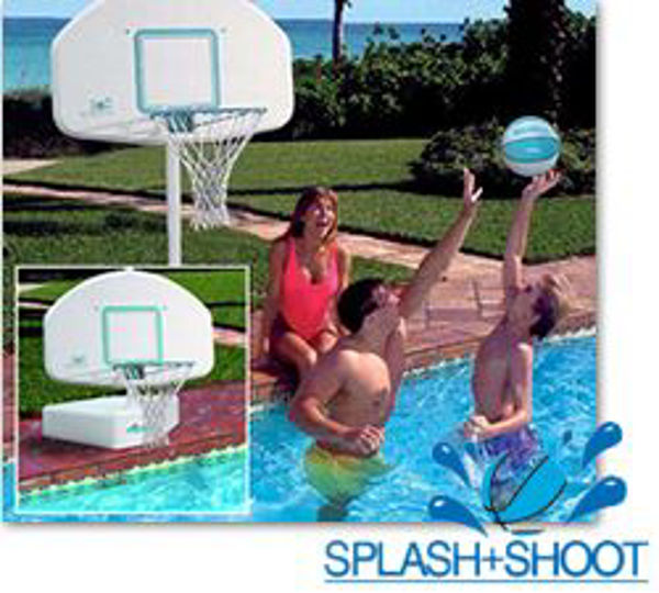 Picture of Splash And Shoot Portable Regulation Size Pool Basketball Set