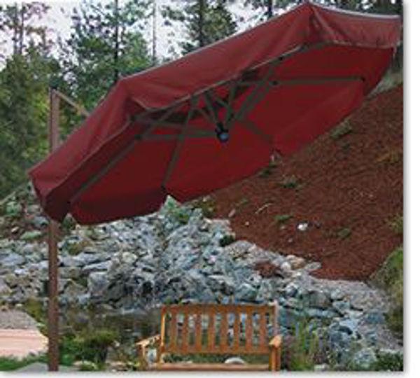 Picture of FIM Aluminum 11 ft. Retractable Offset Patio Umbrella - XS5T