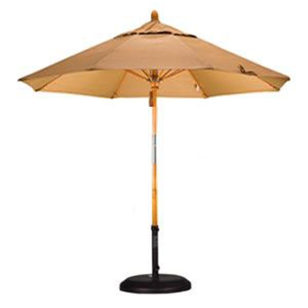 Picture of California 10 ft. x 8 Rib Umbrella Pulley Fiberglass Market Umbrella