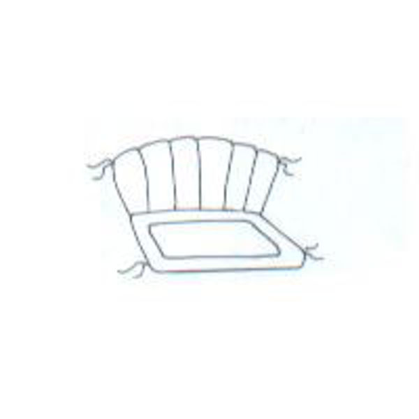 """Picture of Barrel Back Glider Cushion 42"""" x 34"""""""
