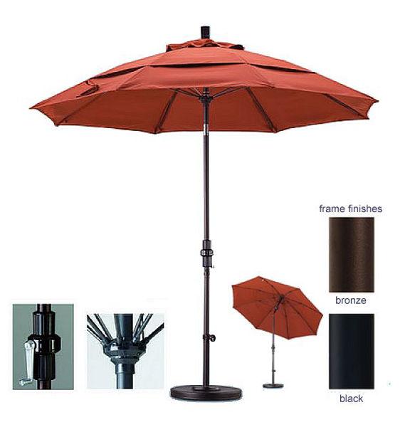Picture of California Umbrella 9 ft. Collar Tilt Aluminum Market Umbrella GSCUF