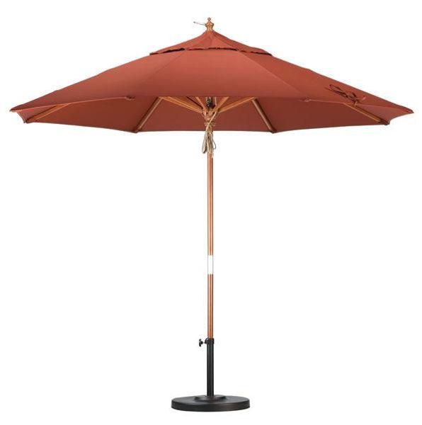 Picture of California Umbrella 9 ft. Market Wood Umbrella, MARE908