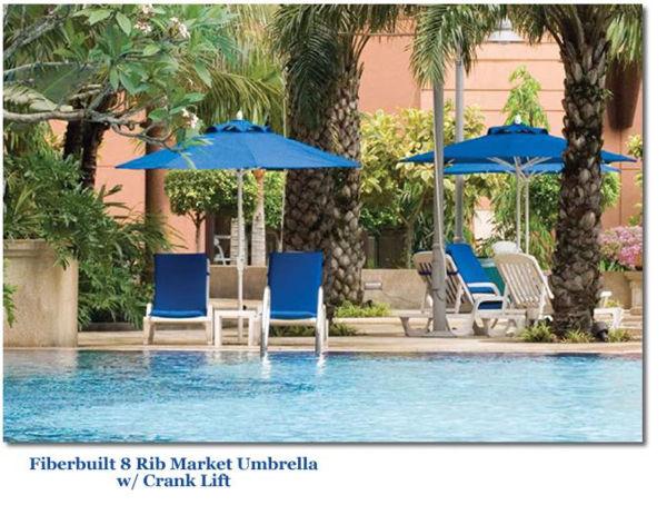Picture of 9' Market Patio Umbrella w/ Fiberglass Ribs - Fiberbuilt