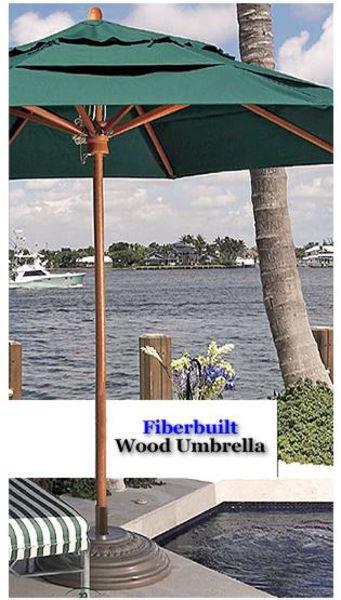 Picture of 11' Wood Umbrella w/ Wood Ribs - Fiberbuilt