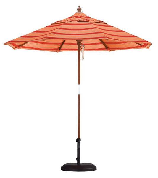 Picture of California Umbrella 7.5 ft Market Wood Umbrella, DLPU758