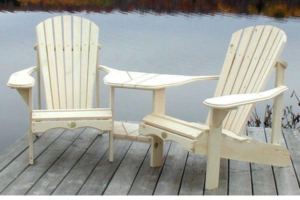 Patio Store The Bear Chair Kit Angled Cedar Tete A Tete