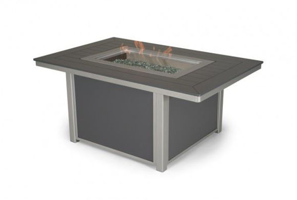 Picture of Telescope Casual Fire Table, 36? x 54? Rectangular Fire Table, Marine Grade Polymer
