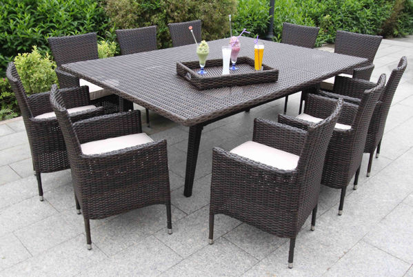 Picture of Bellini Home and Gardens Laredo Wicker 12 Piece Dining Set