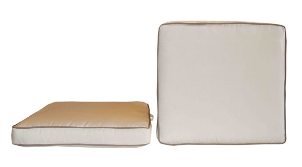 Picture of Bellini Home and Gardens Sunbrella Designer Seat Cushions-  Box/Color Coordinated Double Piping  2 Pk.