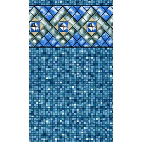 Picture of 10' x 15' Oval (48') Bermuda Tile Heavy Gauge Uni-Bead Liner