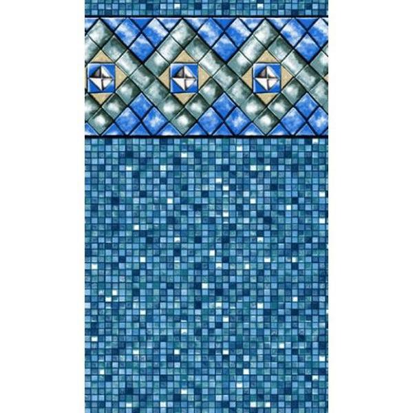 Picture of 10' x 16' Oval (48') Bermuda Tile Heavy Gauge Uni-Bead Liner