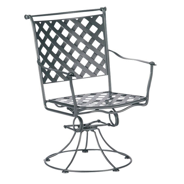 Picture of Woodard Maddox Swivel Rocker Dining Arm Chair