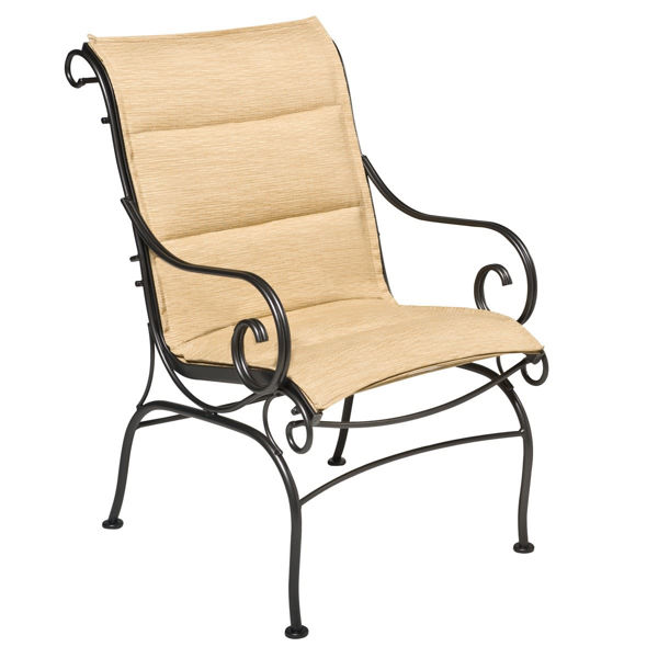 Picture of Woodard Terrace Padded Sling Dining Arm Chair
