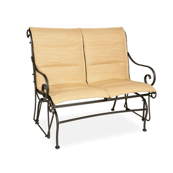 Picture of Woodard Terrace Padded Sling Love Seat Glider
