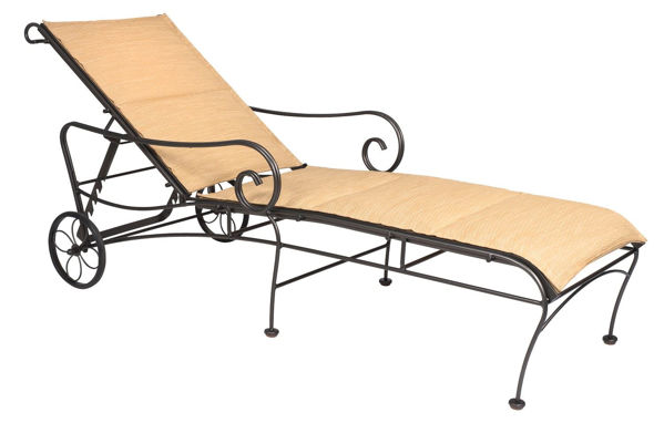 Picture of Woodard Terrace Padded Sling Adjustable Chaise Lounge