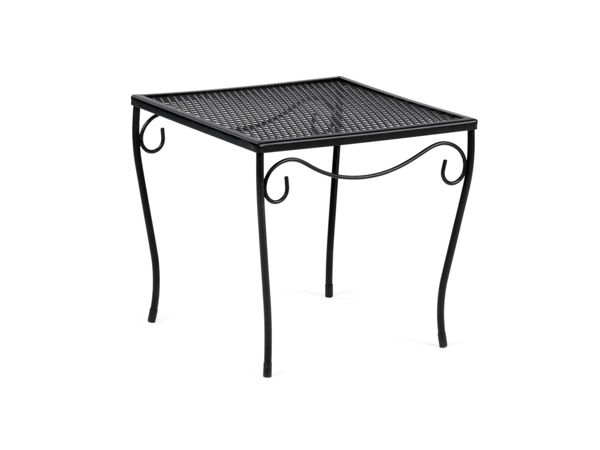 Wrought Iron Small Square End Table