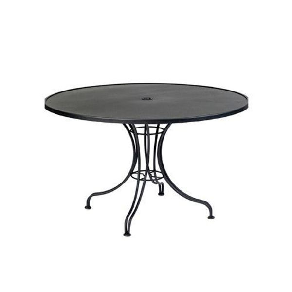 Picture of Woodard Wrought iron 42 Round Umbrella Table With Universal Base