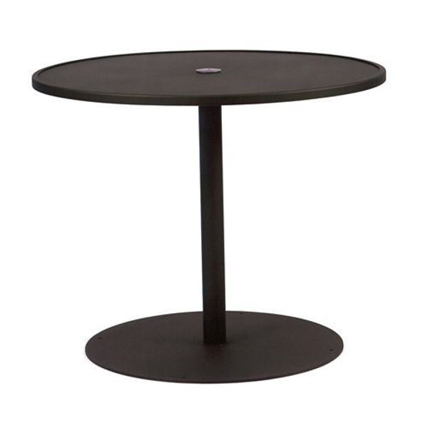 Picture of Woodard Wrought iron 48 Round Umbrella Table With Pedestal Base