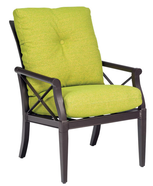 Picture of Woodard Andover Cushion Dining Arm Chair