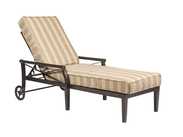 Picture of Woodard Andover Adjustable Chaise Lounge with Waterfall Cushion