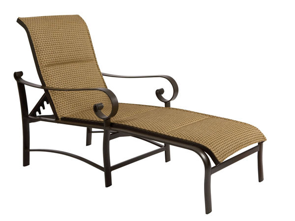 Picture of Woodard Belden Padded Sling Adjustable Chaise Lounge