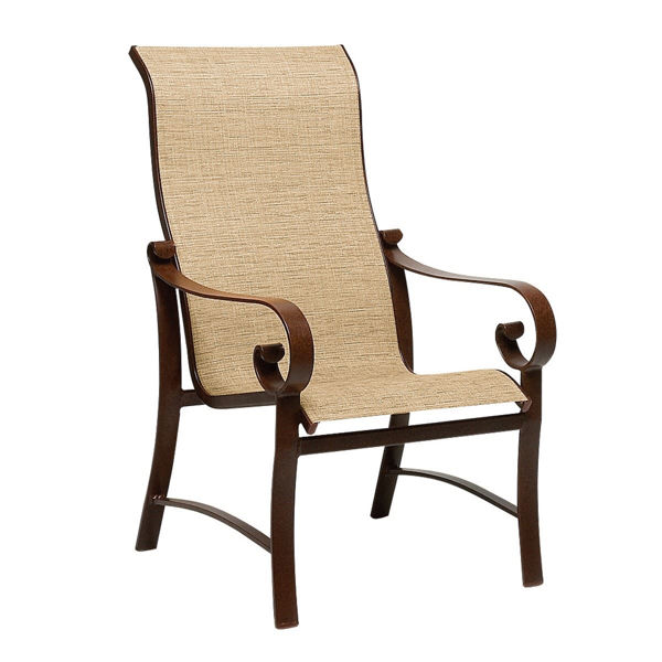 Picture of Woodard Belden Sling High Back Dining Arm Chair
