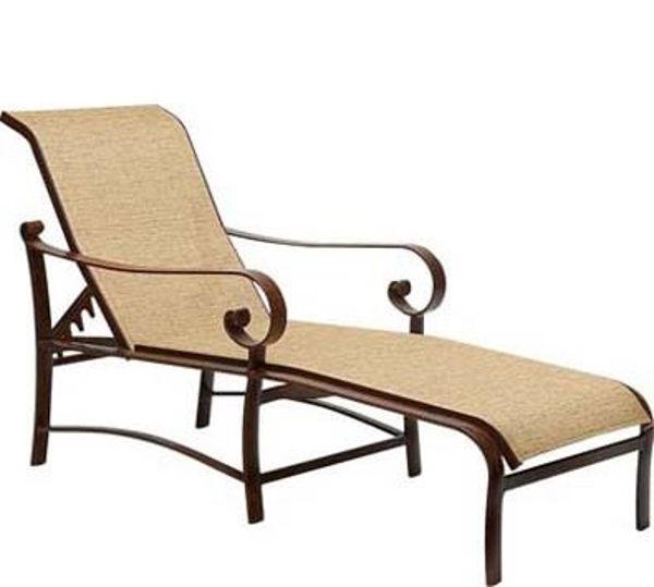 Picture of Woodard Belden Sling Adjustable Chaise Lounge