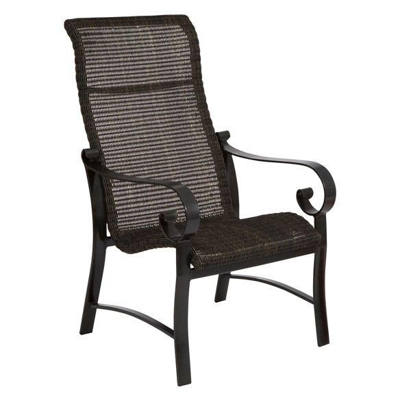 Picture of Woodard Belden Woven High Back Dining Arm Chair