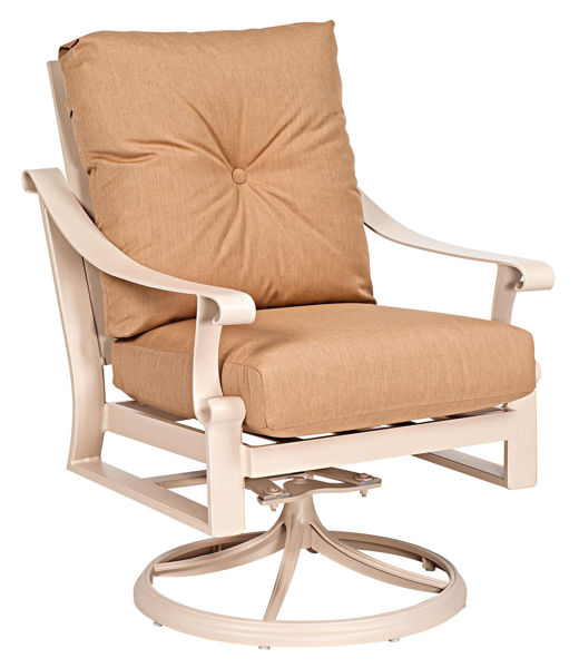 Picture of Woodard Bungalow Cushion Swivel Rocking Lounge Chair