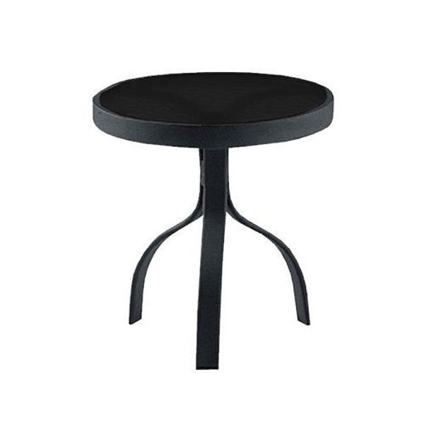 """Picture of Woodard Deluxe Tables in Aluminum with Trellis Top 18"""" Round End Table"""