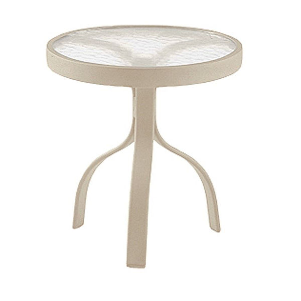 "Picture of Woodard Deluxe Tables in Aluminum with Acrylic Top 18"" Round End Table"
