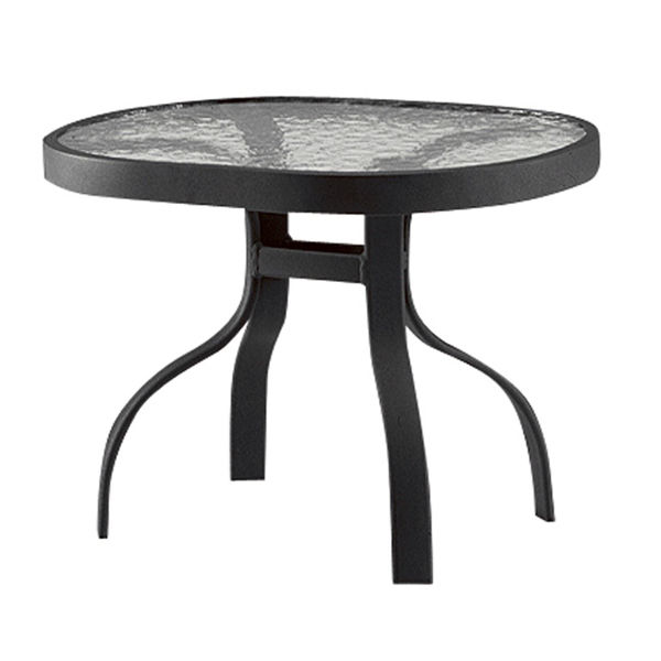 Picture of Woodard Deluxe Tables in Aluminum with Obscure Glass 19' x 24' Rectangular End Table