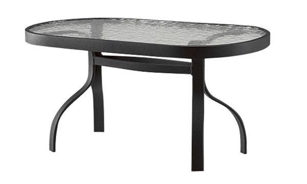 Picture of Woodard Deluxe Tables in Aluminum with Obscure Glass 19' x 37' Rectangular Coffee Table