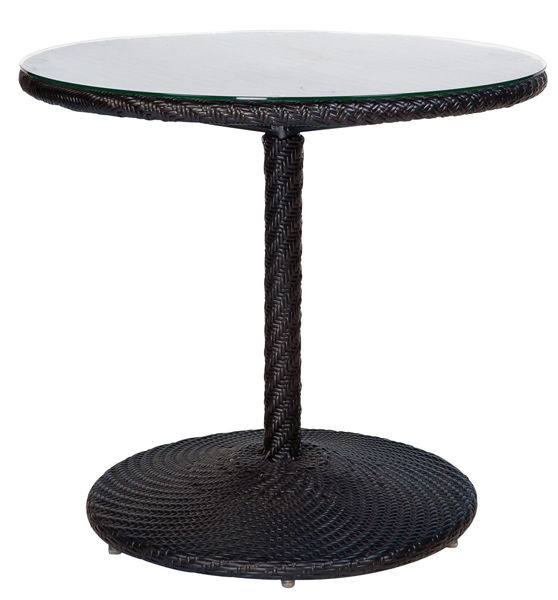 Picture of Woodard Barlow Round Bistro Table - Dark Roast