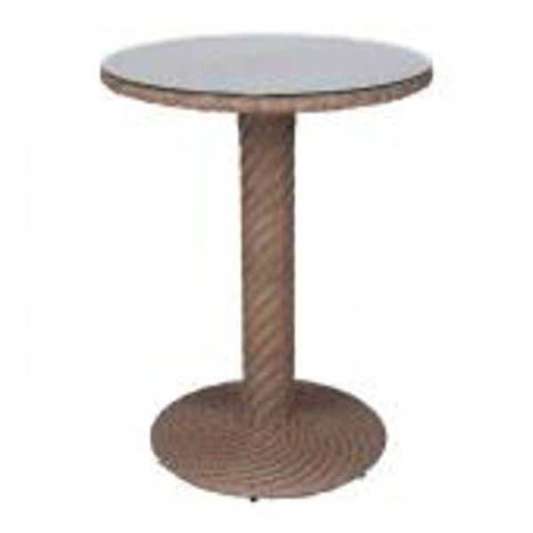 Picture of Woodard Barlow Round Bistro Table - Bronzed Teak