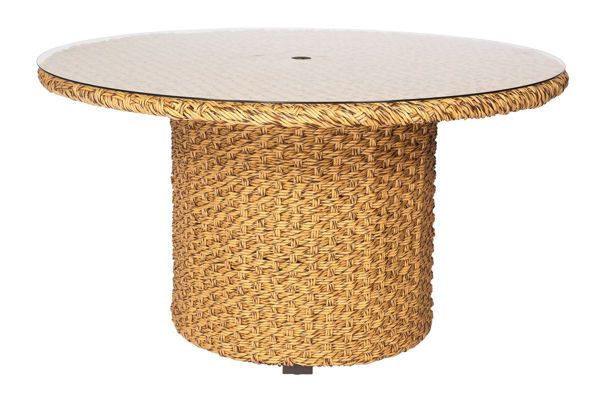 Picture of Woodard Mona Woven Round Dining Table