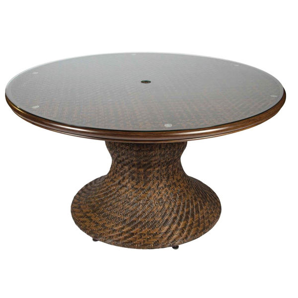Picture of Woodard North Shore Woven Round Dining Table