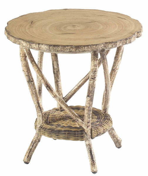Picture of Woodard River Run End Table with Faux Birch Top