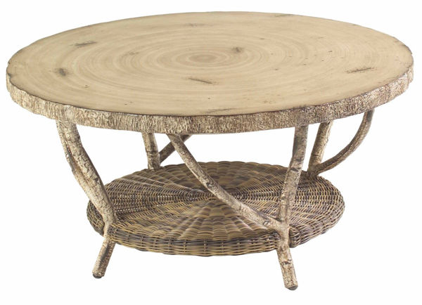 Picture of Woodard River Run Coffee Table with Faux Birch Top