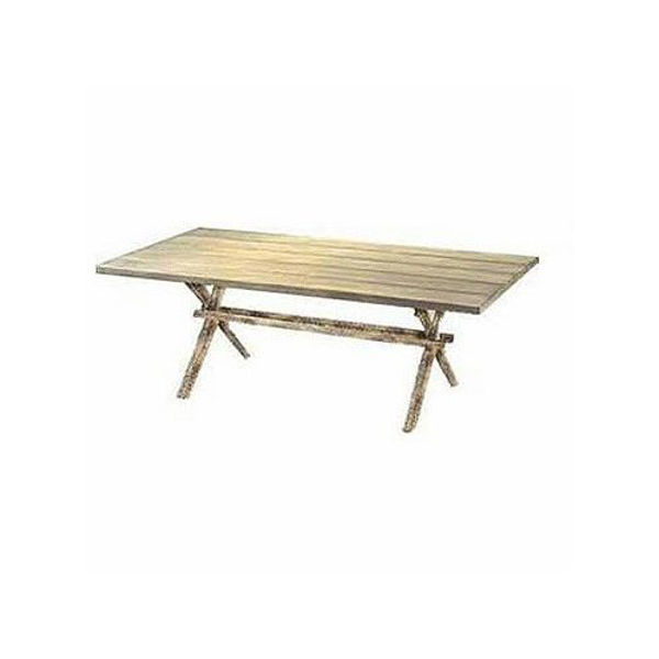 Picture of Woodard River Run Rectangular Dining Table with Faux Birch Top