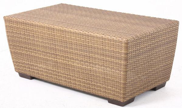 Picture of Woodard Saddleback Rectangular Coffee Table