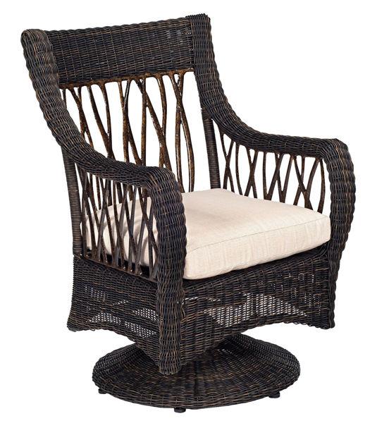 Picture of Woodard Serengeti Swivel Rocker Dining Chair