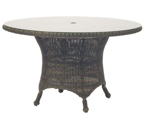 Picture of Woodard Serengeti Round Dining Table with Glass Top