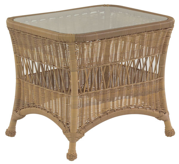 Picture of Woodard Sommerwind End Table with Glass Top