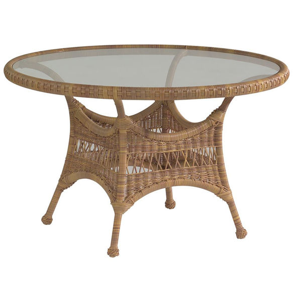 Picture of Woodard Sommerwind Round Dining Table with Glass Top