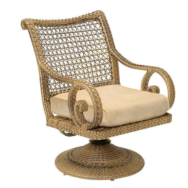 Picture of Woodard South Shore Swivel Rocker Dining Chair