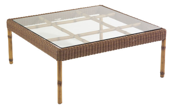 Picture of Woodard South Terrace Square Coffee Table with Glass Top