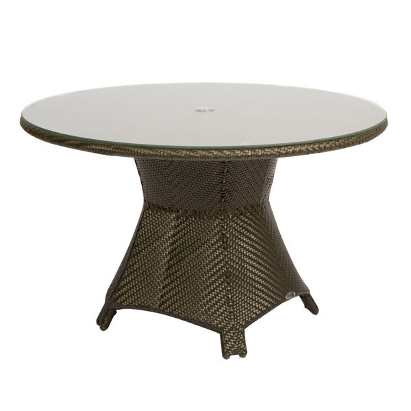 Picture of Woodard Trinidad Round Umbrella Dining Table