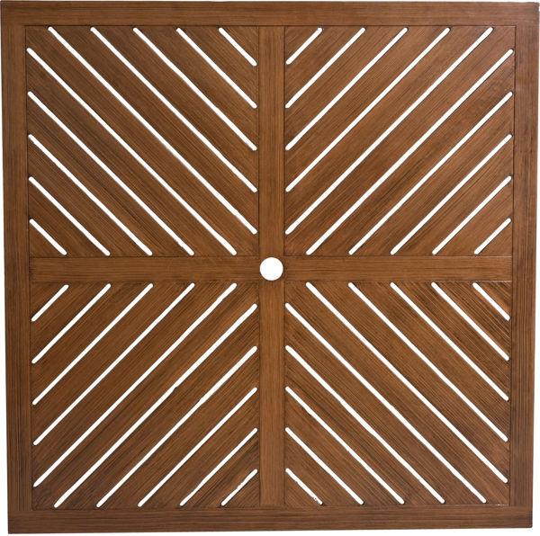 Picture of Woodard Cast Aluminum Herringbone 20 Square End Table