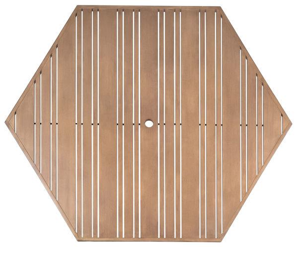 Picture of Woodard Extruded Aluminum Tri-Slat 22 Hexagonal Table Top